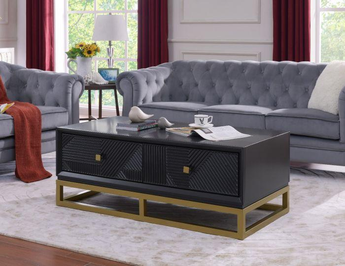 Orlando Black Coffee Table - AR Furnishings - Specialists In Bringing Luxury Into Your Home.