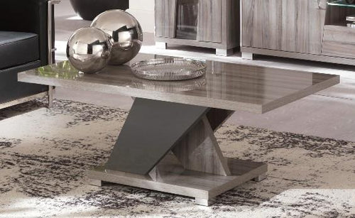 Glamour Grey Walnut Lamp Table
