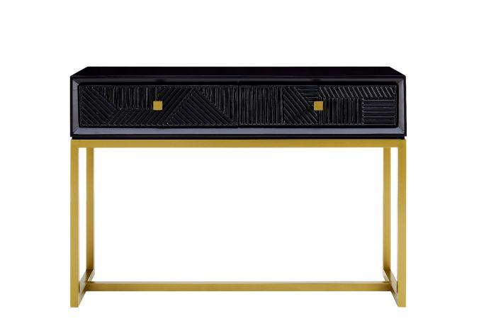 Orlando Black Console Table - AR Furnishings - Specialists In Bringing Luxury Into Your Home.
