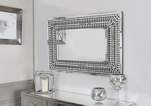Crystal Rectangular Mirror - ImagineX Furniture & Interiors