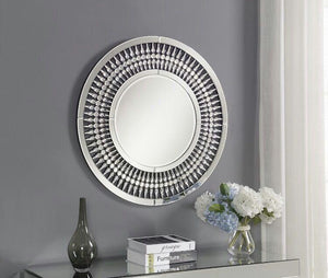 Crystal 3ft Round Mirror - ImagineX Furniture & Interiors