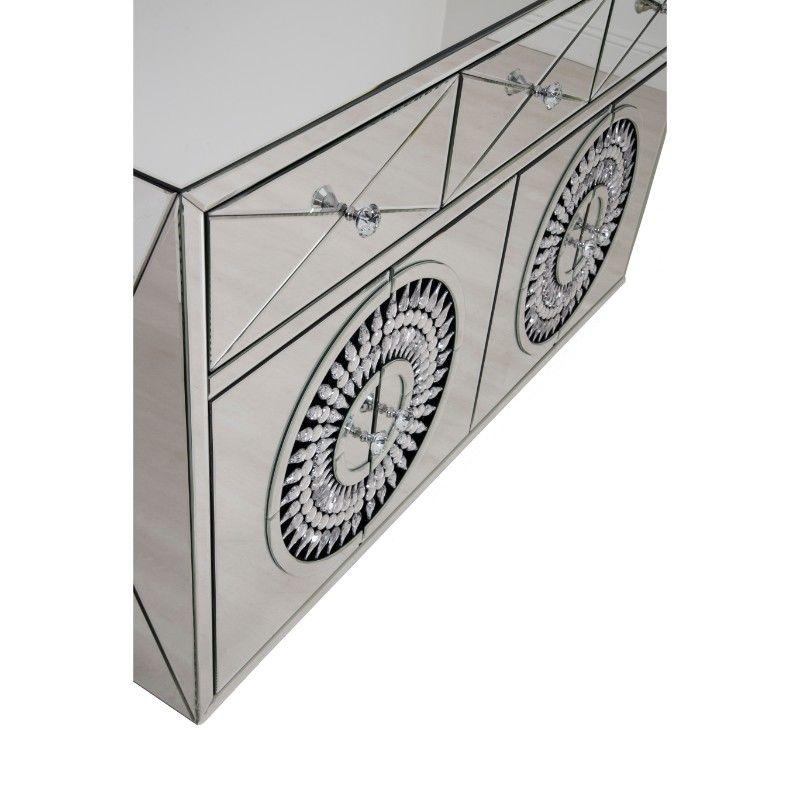 Crystal 4 Door Sideboard - AR Furnishings - Specialists In Bringing Luxury Into Your Home.
