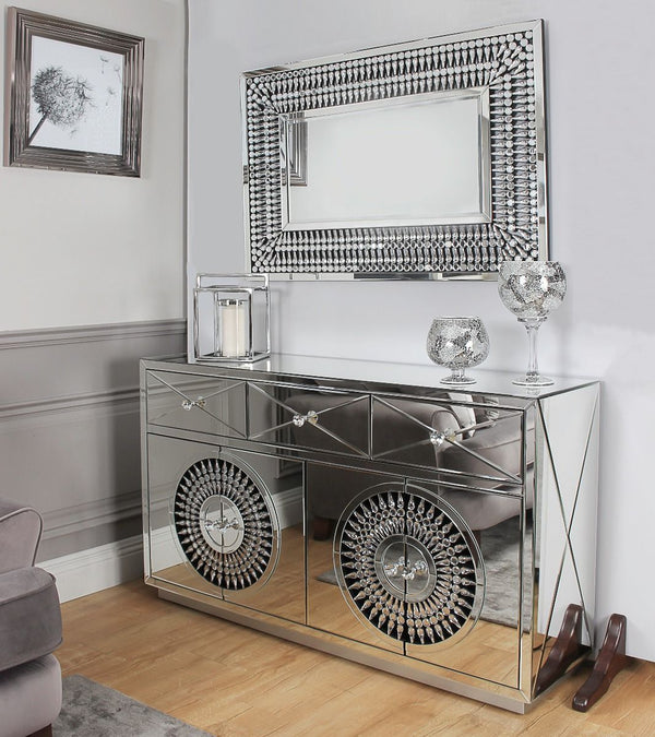 Crystal Rectangular Mirror - AR Furnishings - Specialists In Bringing Luxury Into Your Home.