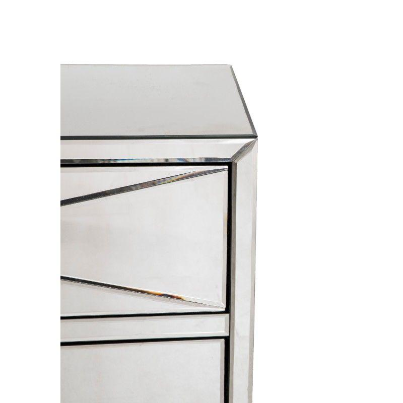 Crystal 2 Door 1 Drawer Chest - AR Furnishings - Specialists In Bringing Luxury Into Your Home.