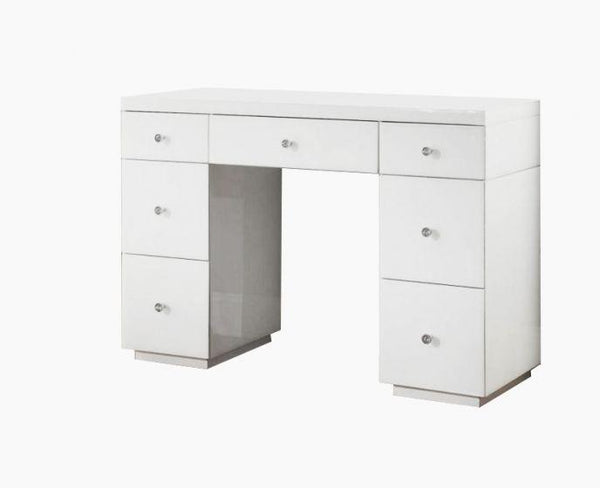 Hollywood White 7 Drawer Dressing Table - AR Furnishings - Specialists In Bringing Luxury Into Your Home.