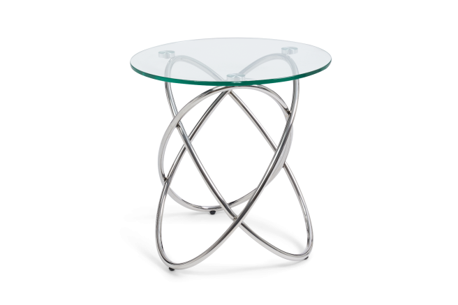 Dina Glass Lamp Table - AR Furnishings - Specialists In Bringing Luxury Into Your Home.