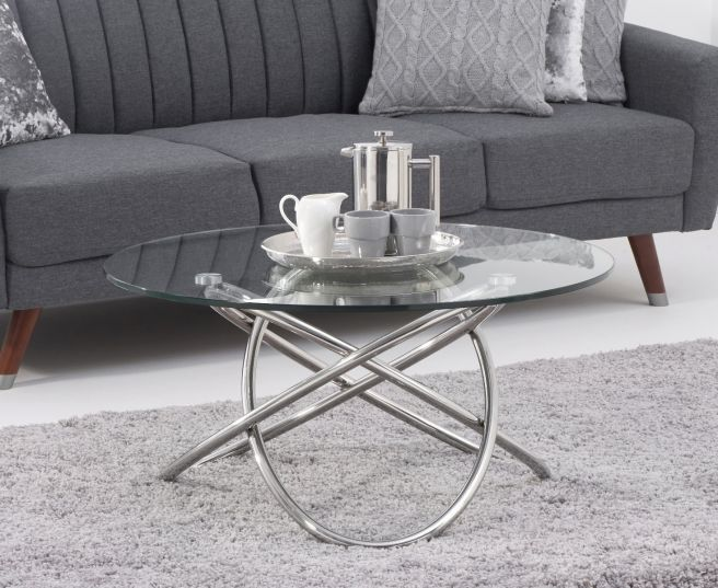 Dina Glass Coffee Table - AR Furnishings - Specialists In Bringing Luxury Into Your Home.