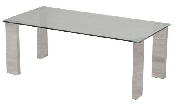 Torelli Dakota 140cm Clear Glass Dining Table - AR Furnishings - Specialists In Bringing Luxury Into Your Home.