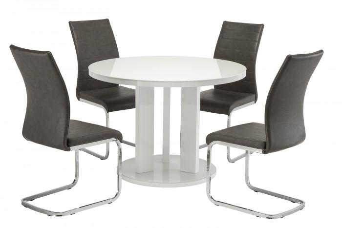 Ellie 107cm Dining Set + 4 Jasper Dining Chairs - AR Furnishings - Specialists In Bringing Luxury Into Your Home.