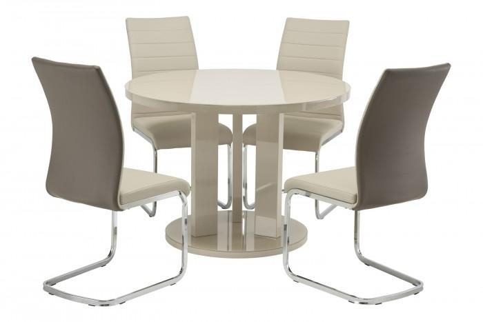 Ellie 107cm Dining Set + 4 Jasper Dining Chairs - AR Furnishings