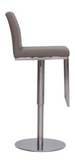 Enzo Taupe Leather Barstool - AR Furnishings - Specialists In Bringing Luxury Into Your Home.