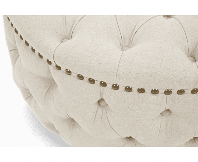 Fiona Velvet Round Footstool - AR Furnishings - Specialists In Bringing Luxury Into Your Home.