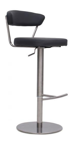 Gino Grey Leather Barstool - AR Furnishings - Specialists In Bringing Luxury Into Your Home.