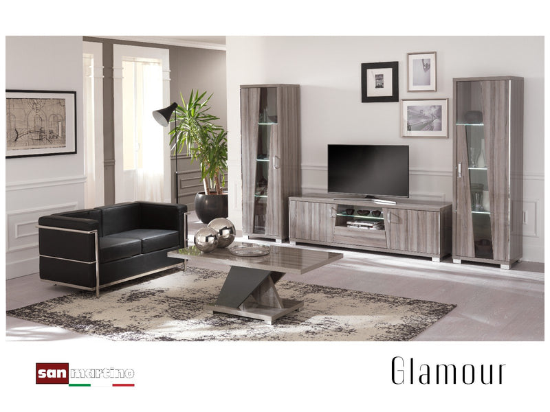 Glamour Grey Walnut Lamp Table - AR Furnishings - Specialists In Bringing Luxury Into Your Home.