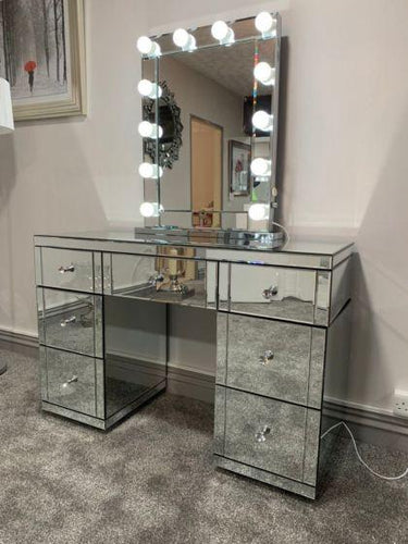Hollywood Glass Dresser & Desktop Mirror