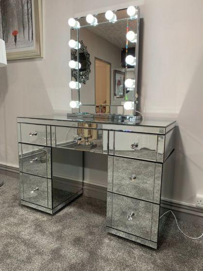 Hollywood Glass Dresser & Desktop Mirror - AR Furnishings - Specialists In Bringing Luxury Into Your Home.