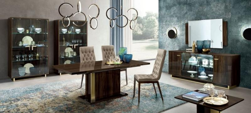 Volare Day Walnut Italian Mirror - 132cm x 85cm - AR Furnishings - Specialists In Bringing Luxury Into Your Home.