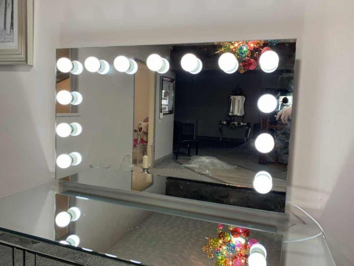 Tabletop Hollywood Mirror-Glass - AR Furnishings - Specialists In Bringing Luxury Into Your Home.