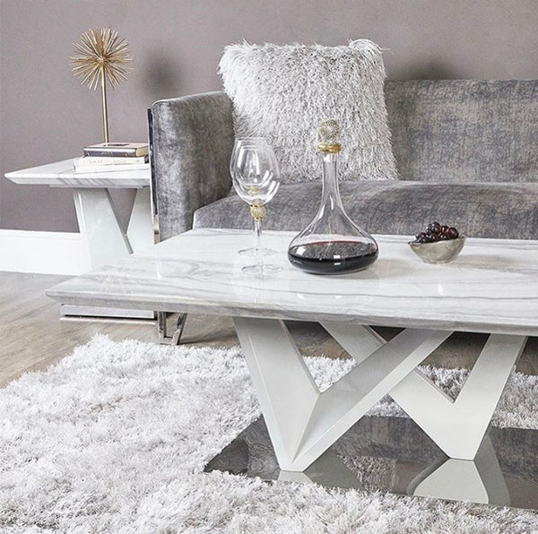 Mara Marble Effect Coffee Table - AR Furnishings - Specialists In Bringing Luxury Into Your Home.