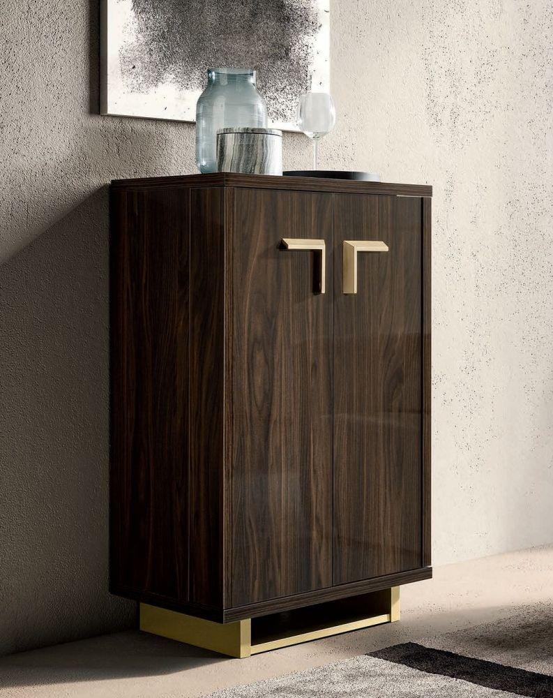 Volare Day Walnut Italian Bar Unit - AR Furnishings - Specialists In Bringing Luxury Into Your Home.