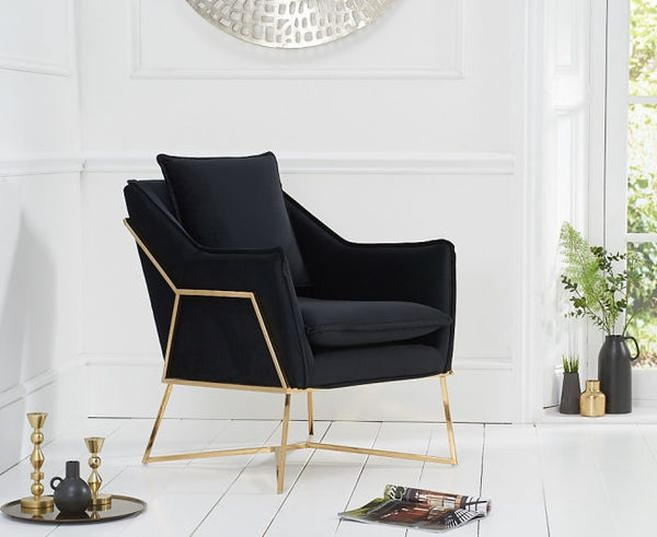 Larna Velvet Accent Chair - AR Furnishings - Specialists In Bringing Luxury Into Your Home.