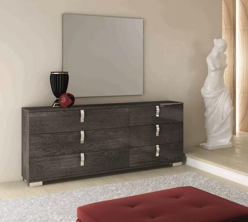 Sarah Grey Birch Italian 6 Drawer Chest - AR Furnishings - Specialists In Bringing Luxury Into Your Home.