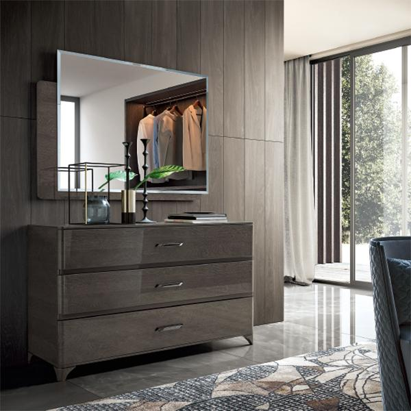 Maia Silver Birch High Gloss Rectangular Mirror Only - AR Furnishings - Specialists In Bringing Luxury Into Your Home.