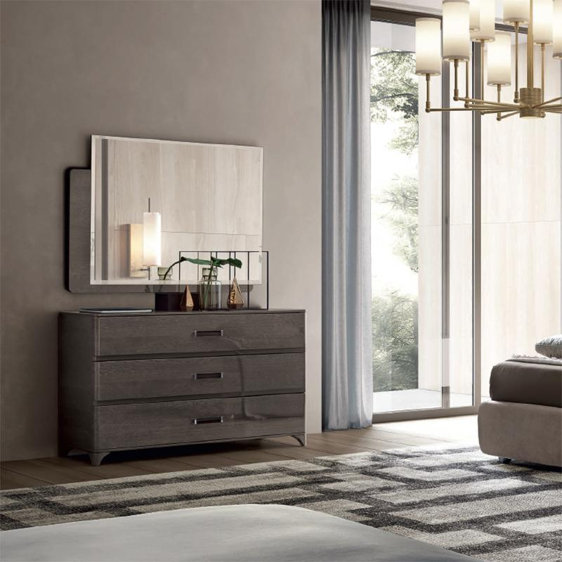 Maia Silver Birch High Gloss 3 Drawer Chest of Drawers - AR Furnishings - Specialists In Bringing Luxury Into Your Home.