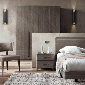 Maia Silver Birch High Gloss Wardrobe in Various Sizes - ImagineX Furniture & Interiors