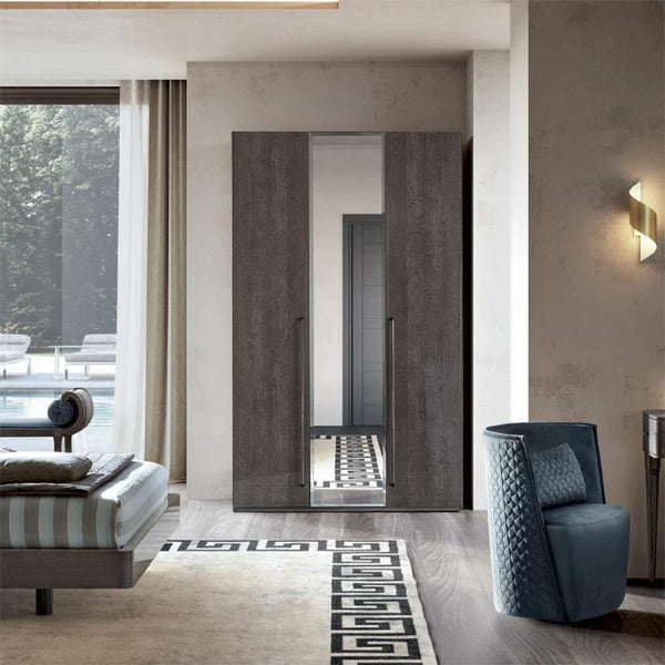 Maia Silver Birch High Gloss Mirrored Wardrobe in Various Sizes - AR Furnishings - Specialists In Bringing Luxury Into Your Home.
