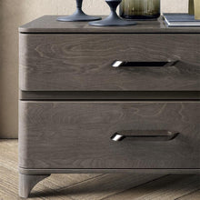 Load image into Gallery viewer, Maia Silver Birch High Gloss 2 Drawer Maxi Bedside Table - ImagineX Furniture & Interiors