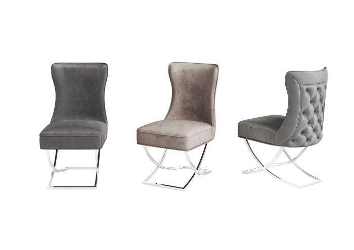 Maria Velvet Button Back Dining Chair - Colour Options - AR Furnishings - Specialists In Bringing Luxury Into Your Home.