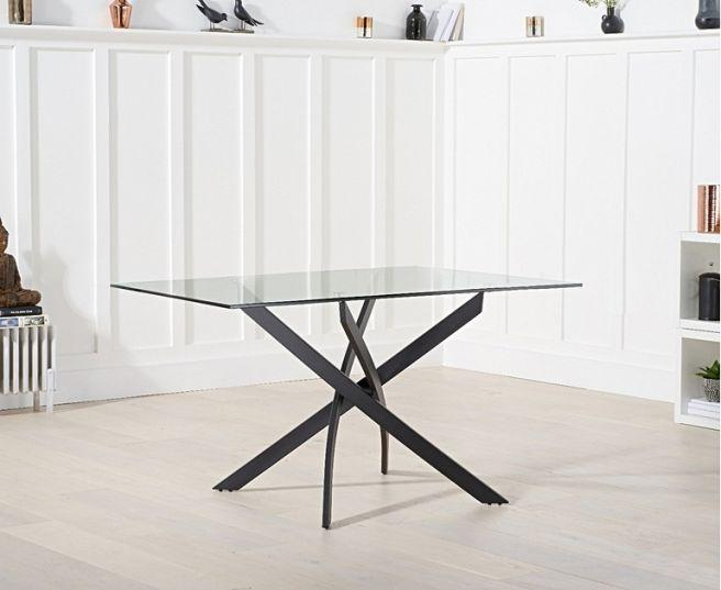 Marina 120cm Rectangular Glass Dining Table