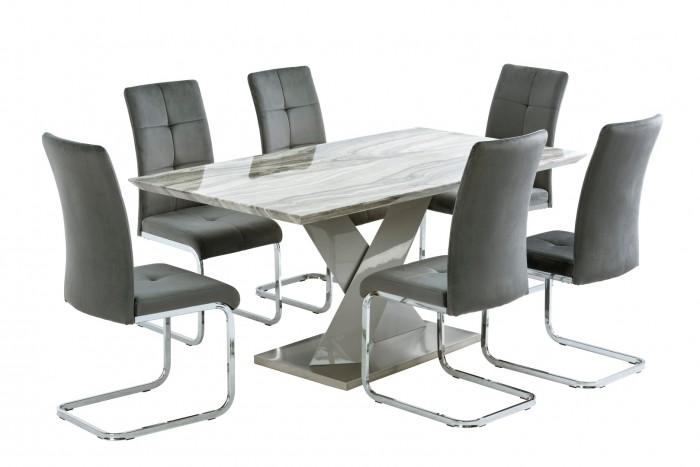 Merano 160cm Dining Table + 6 Florence Chairs - AR Furnishings - Specialists In Bringing Luxury Into Your Home.