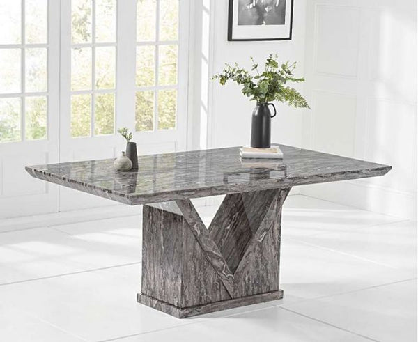 Minsk 180cm Grey Marble Dining Table
