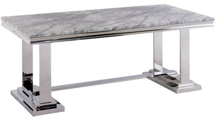 Mitzi 180cm Grey Marble Dining Table