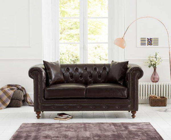 Montrose Brown Leather 2 Seater Sofa