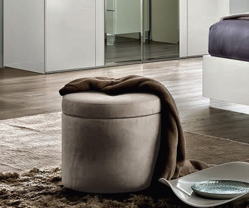 Onda Italian Round Pouff - AR Furnishings - Specialists In Bringing Luxury Into Your Home.