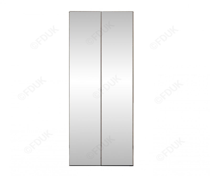 Platinum Night High Gloss 2 Door Mirror Wardrobe - AR Furnishings - Specialists In Bringing Luxury Into Your Home.