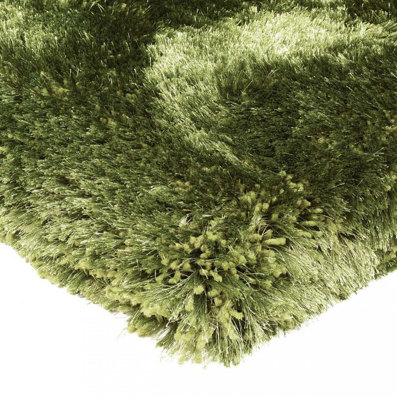 Plush Green Luxury Shaggy Polyester Rug by Asiatic - AR Furnishings - Specialists In Bringing Luxury Into Your Home.