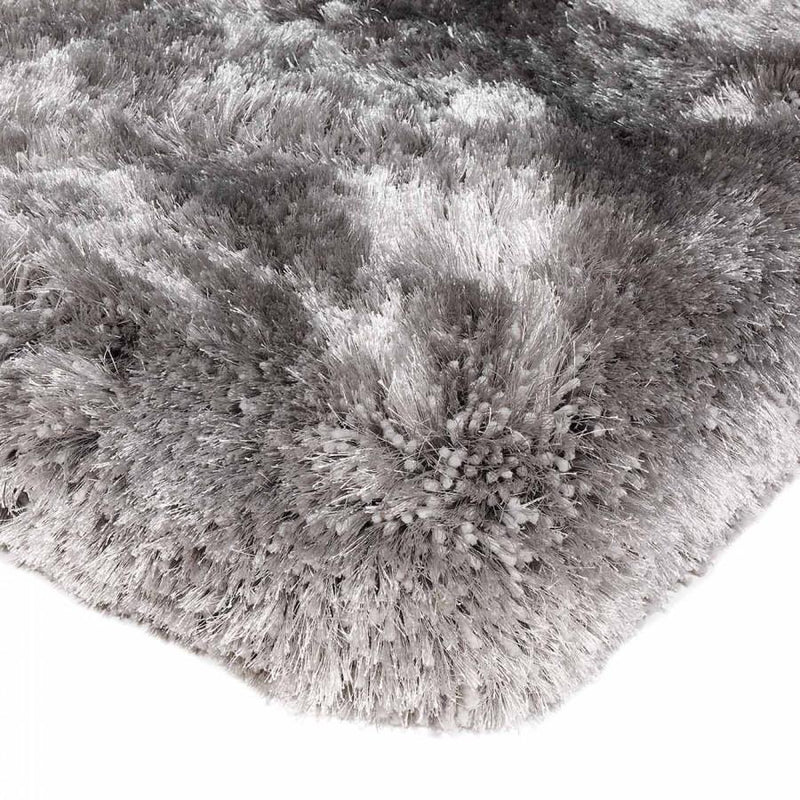 Plush Silver Luxury Shaggy Polyester Rug by Asiatic - AR Furnishings - Specialists In Bringing Luxury Into Your Home.