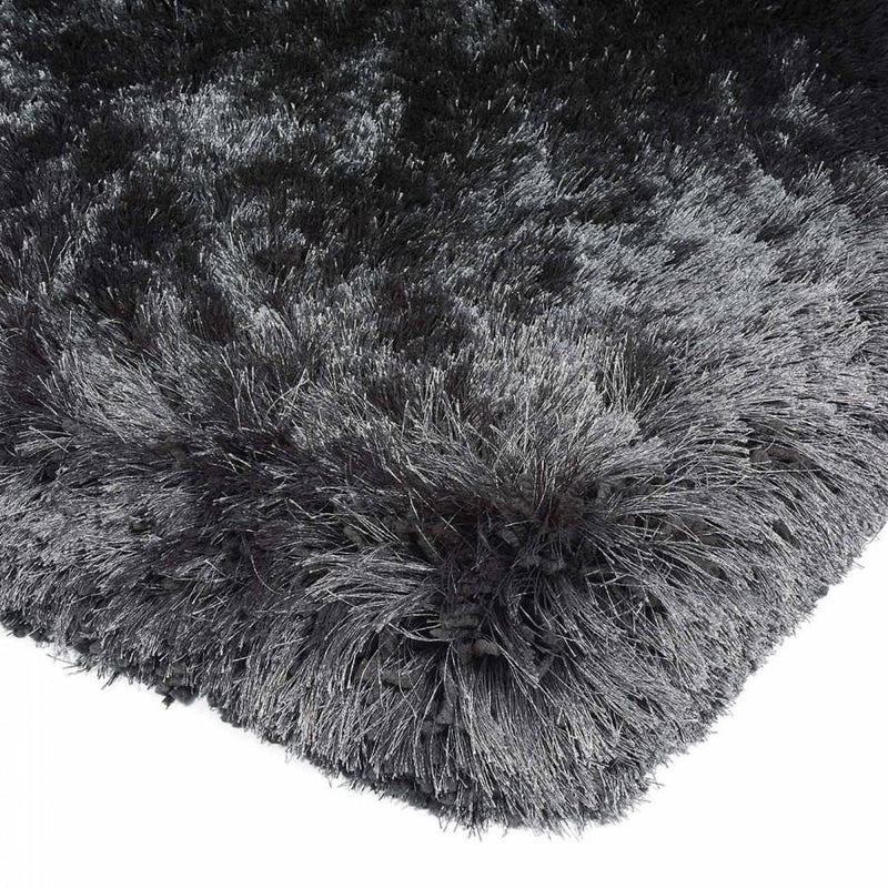 Plush Slate Luxury Shaggy Polyester Rug by Asiatic - AR Furnishings - Specialists In Bringing Luxury Into Your Home.