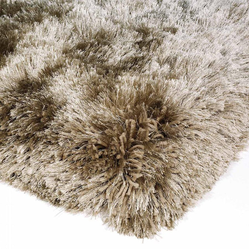 Plush Taupe Luxury Shaggy Polyester Rug by Asiatic - AR Furnishings - Specialists In Bringing Luxury Into Your Home.