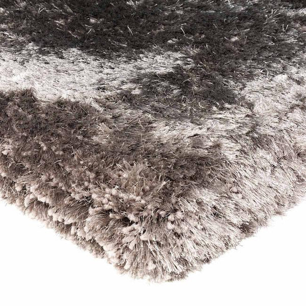 Plush Zinc Luxury Shaggy Polyester Rug by Asiatic - AR Furnishings - Specialists In Bringing Luxury Into Your Home.