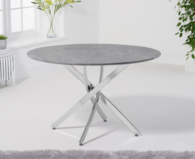 Clara Round 120cm Grey Marble Table