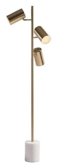 RV Astley Alayna Brass Metal Floor Lamp