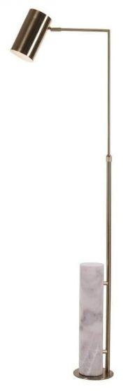 RV Astley Blair Marble and Brass Floor Lamp