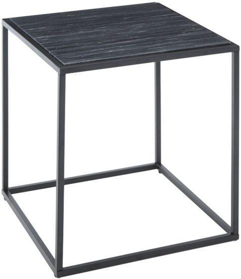RV Astley Easton Matt Black Marble Side Table