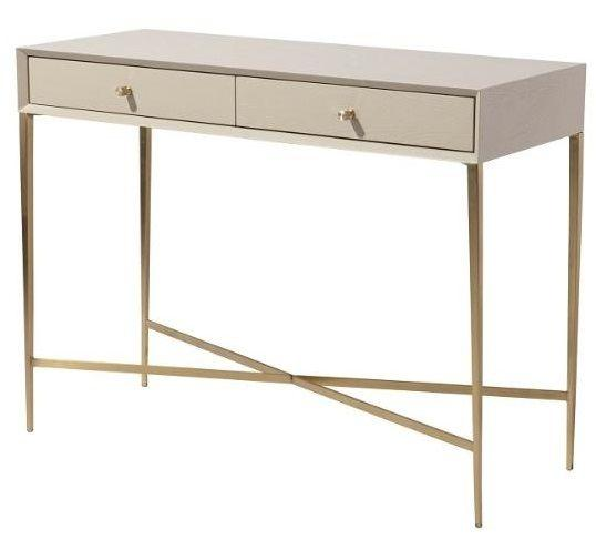 RV Astley Finley Ceremic Grey Wooden Console Table