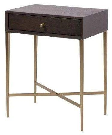 RV Astley Finley Chocolate Wooden Side Table